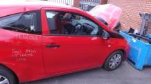 BARE FRONT DOOR Toyota Aygo 2014 On RED DRIVERS SIDE & WARRANTY - 7301750