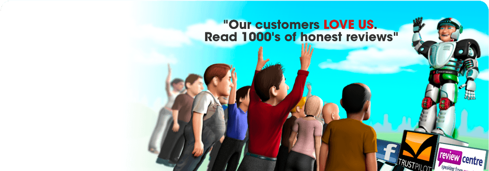 Our customers LOVE US. Read 1000's of honest reviews
