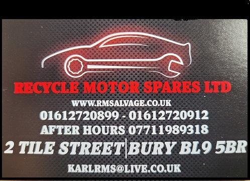 Recycled Motor Spares Bury logo