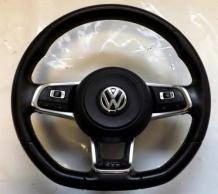 Volkswagen Golf GTD MK7 FLAT BOTTOM Steering Wheel & AIRBAG - WARRANTY 7315315